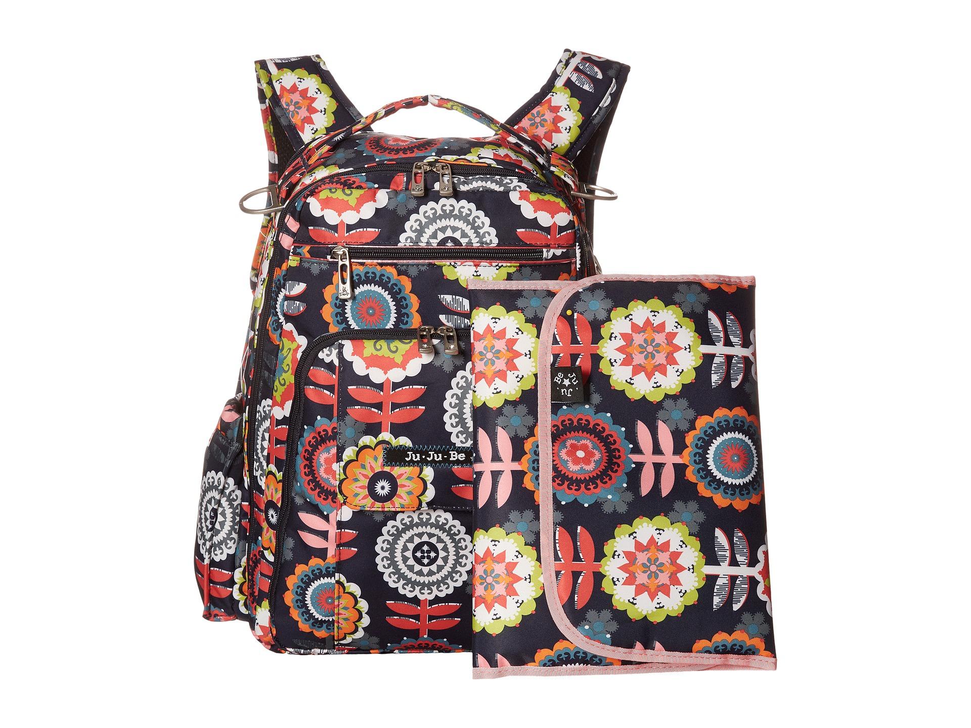 ju ju be be right back backpack diaper bag platinum petals free shipping both ways. Black Bedroom Furniture Sets. Home Design Ideas