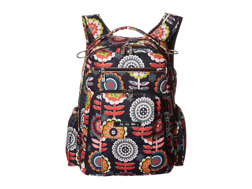 Ju-Ju-Be - Be Right Back Backpack Diaper Bag (Dancing Dahlias) Diaper Bags
