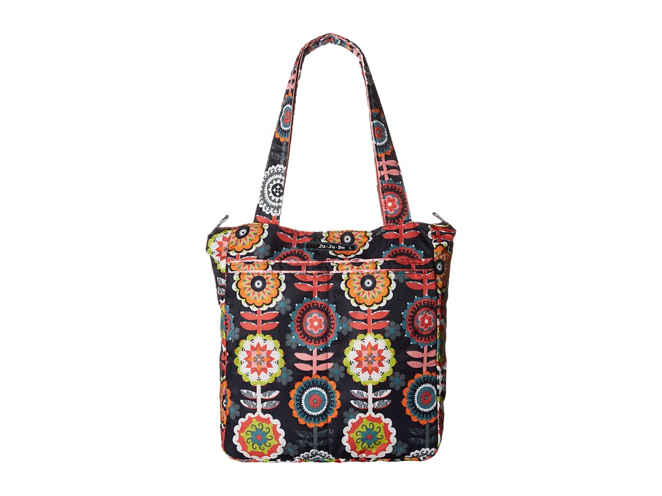 Ju Ju Be Be Light Tote Bag Dancing Dahlias Tote Handbags