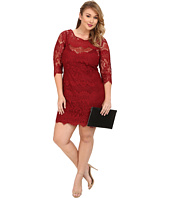 BB Dakota - Plus Size Candy V-Back Lace Dress