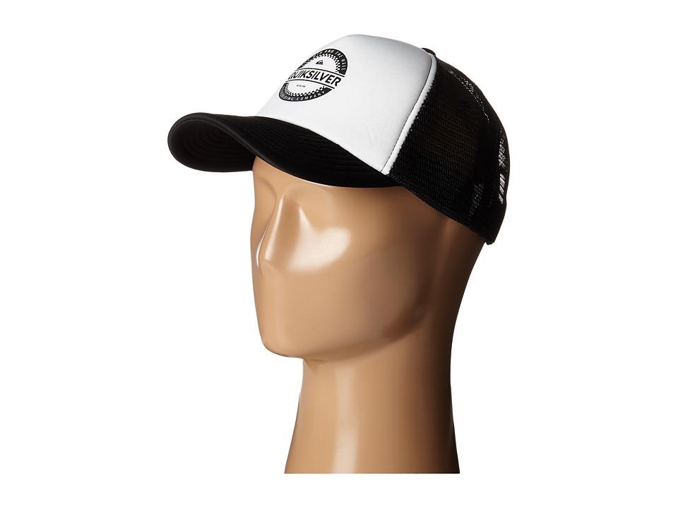 Quiksilver Everyday 3 Trucker Hat White Baseball Caps