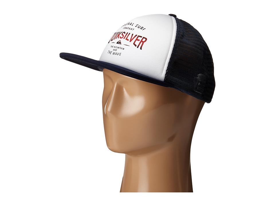 Quiksilver Sanders Trucker Cap White Baseball Caps