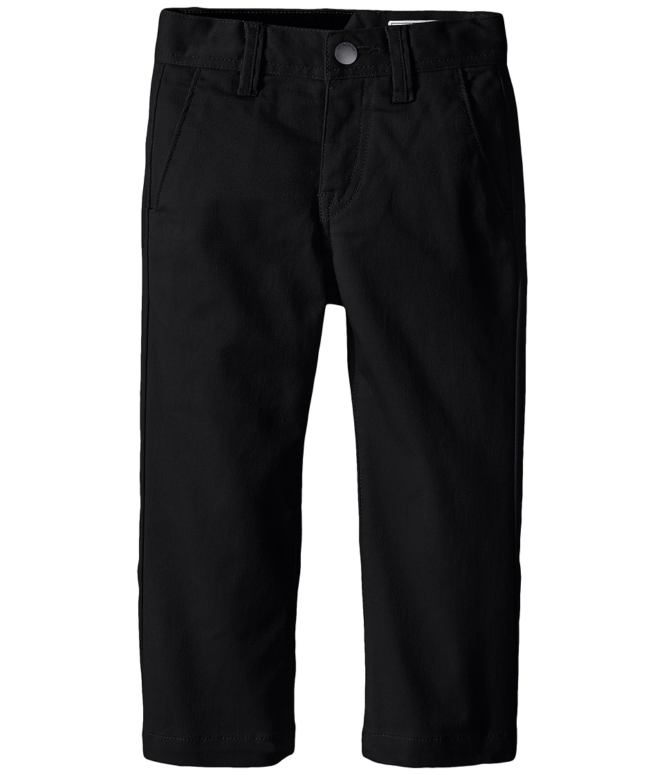Volcom Kids - Frickin Modern Stretch Chino Pants (Toddler/Little Kids) (Black) Boys Casual Pants
