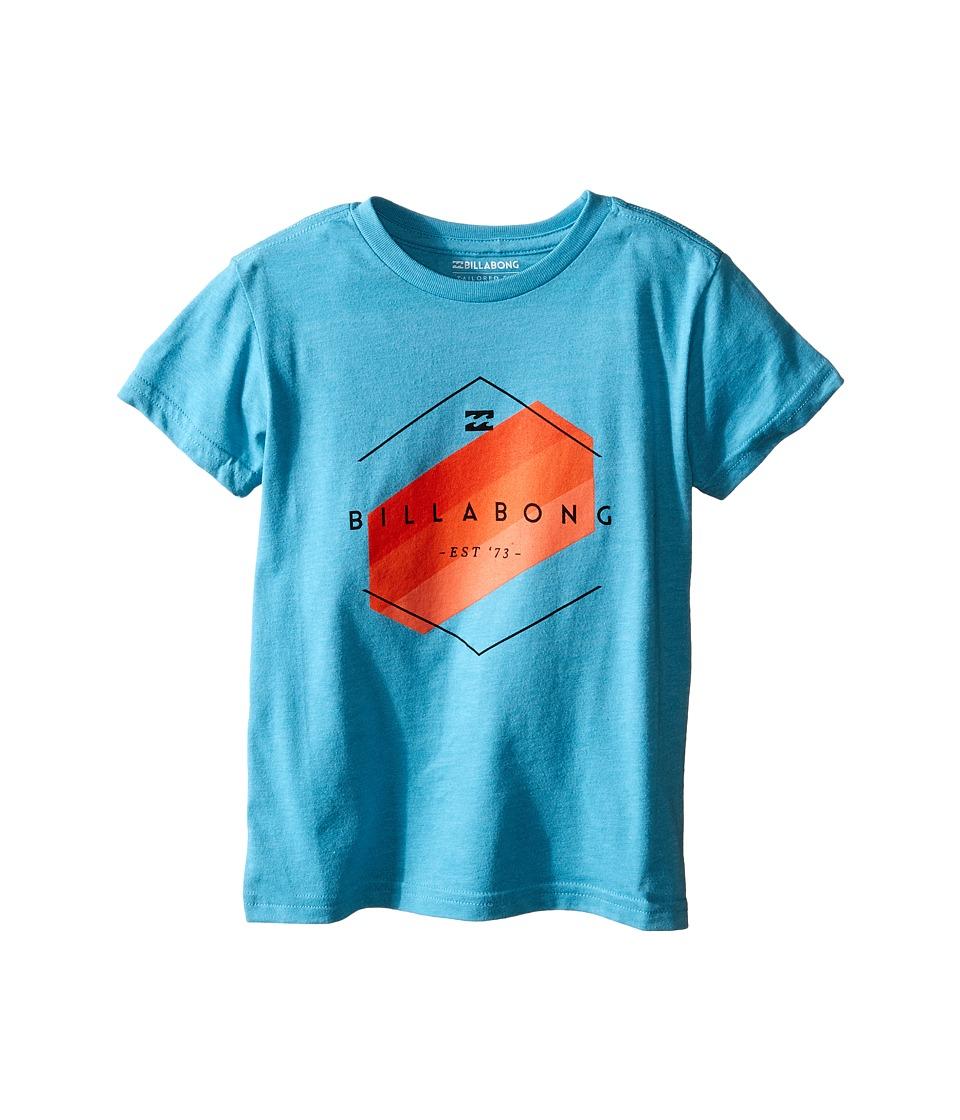 Billabong Kids - Obstacle T-Shirt (Toddler/Little Kids) (Aqua Heather) Boy