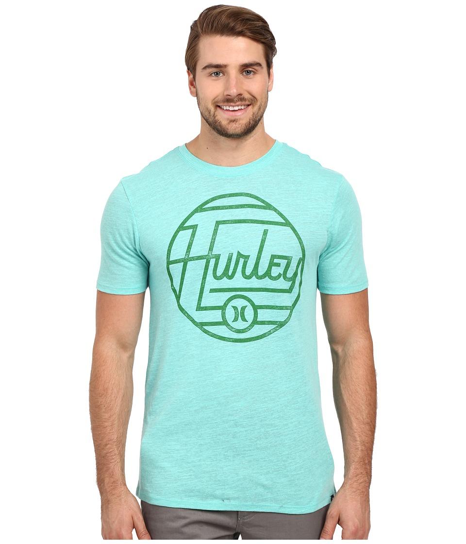Hurley Wavelength Tri Blend Tee Bermuda Green Mens T Shirt