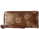 STS Ranchwear STS Floral Embossed Clutch/Wallet (Brown Floral)