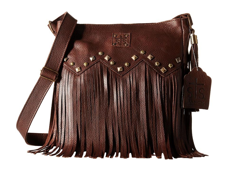 STS Ranchwear The Boho Crossbody Dark Brown Cross Body Handbags
