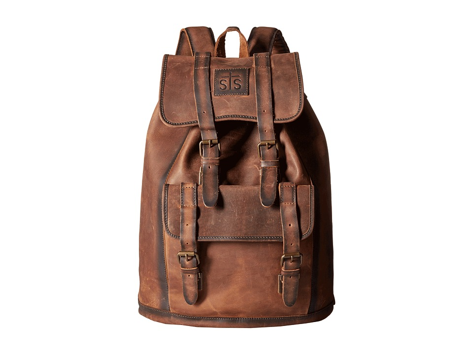 STS Ranchwear - The Foreman Backpack (Brown Leather) Backpack Bags