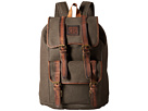 STS Ranchwear The Foreman Backpack (Dark Khaki Canvas/Leather)