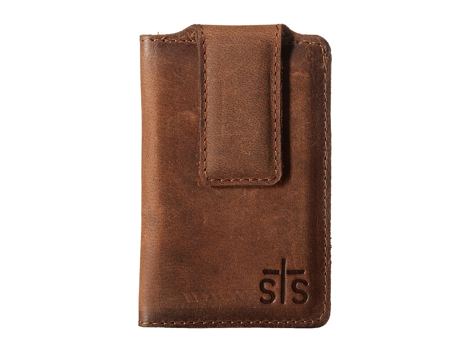 STS Ranchwear - The Foreman Money Clip (Brown Leather) Wallet