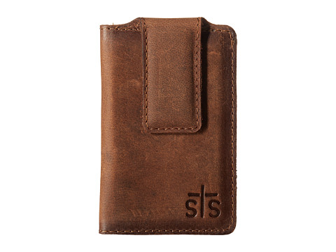 STS Ranchwear The Foreman Money Clip - Brown Leather