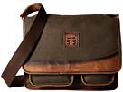 STS Ranchwear The Foreman Messenger (Dark Khaki Canvas/Leather)