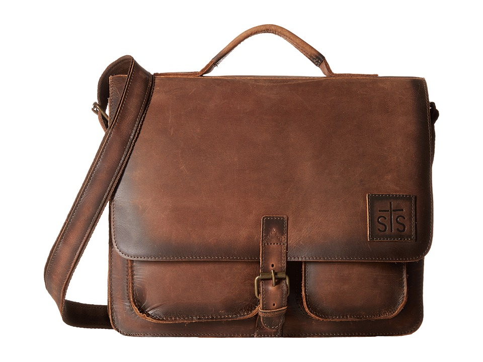STS Ranchwear The Foreman Messenger (Brown Leather) Messenger Bags