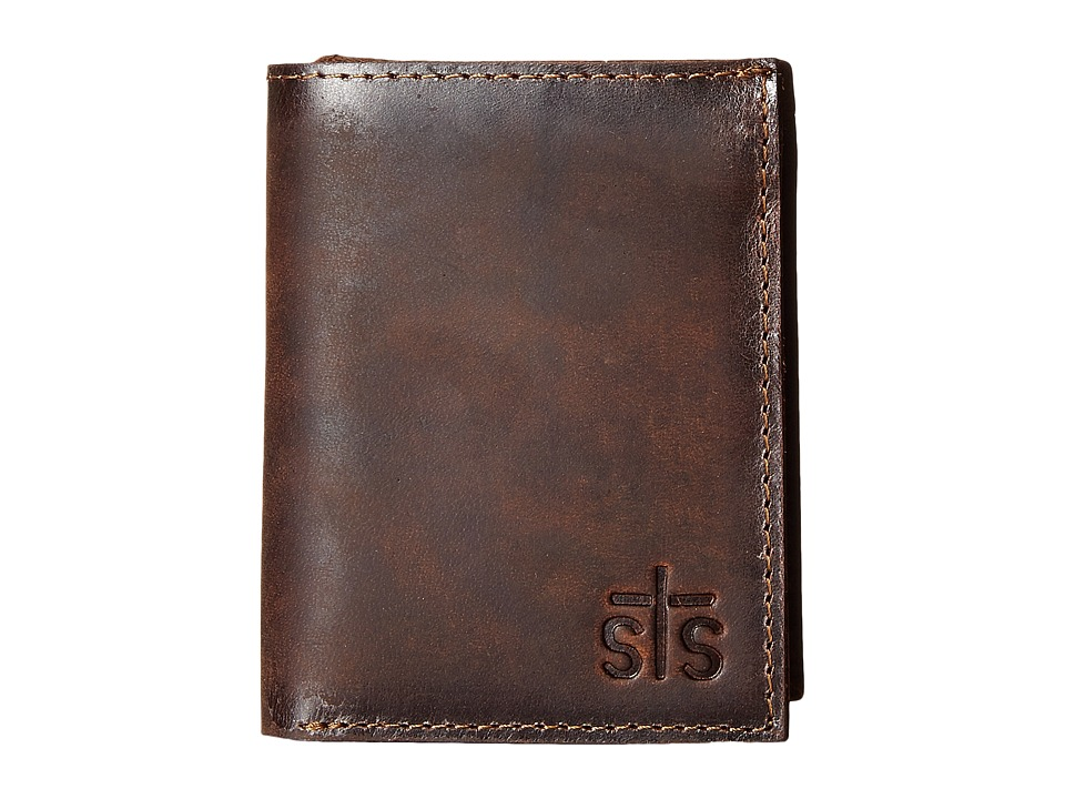 STS Ranchwear - The Foreman Hidden Cash Wallet (Brown Leather) Wallet Handbags