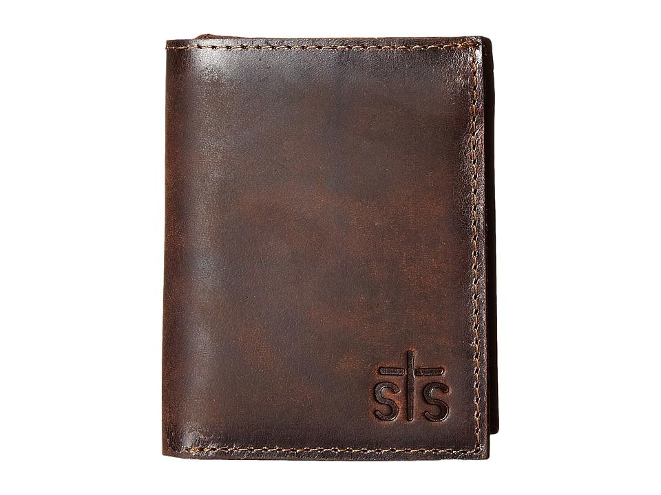 STS Ranchwear - The Foreman Hidden Cash Wallet (Brown Leather) Wallet Handbags