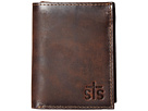 STS Ranchwear The Foreman Hidden Cash Wallet (Brown Leather)