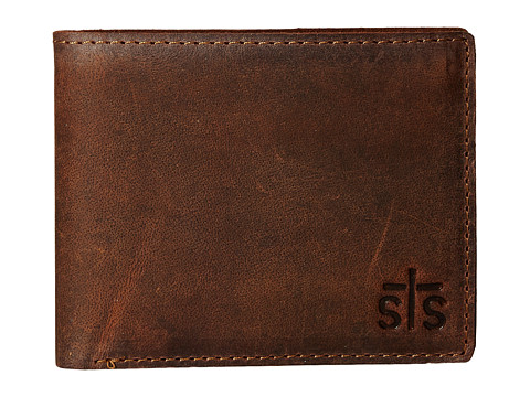 STS Ranchwear The Foreman Bi-Fold Wallet - Brown Leather