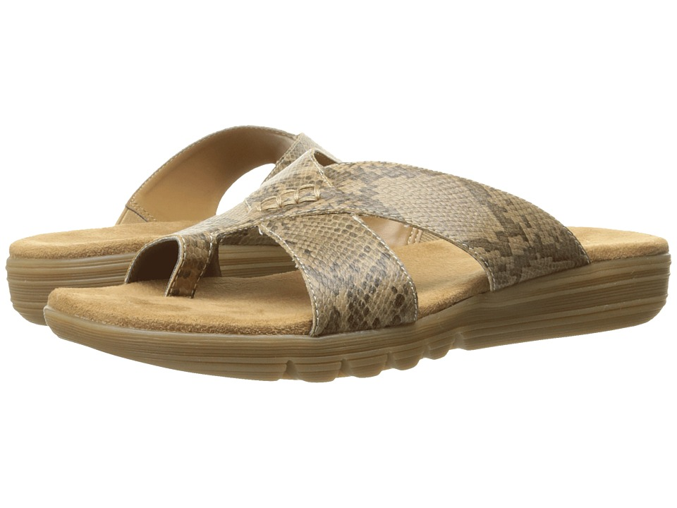 Aerosoles Adjustment Tan Snake Womens Sandals