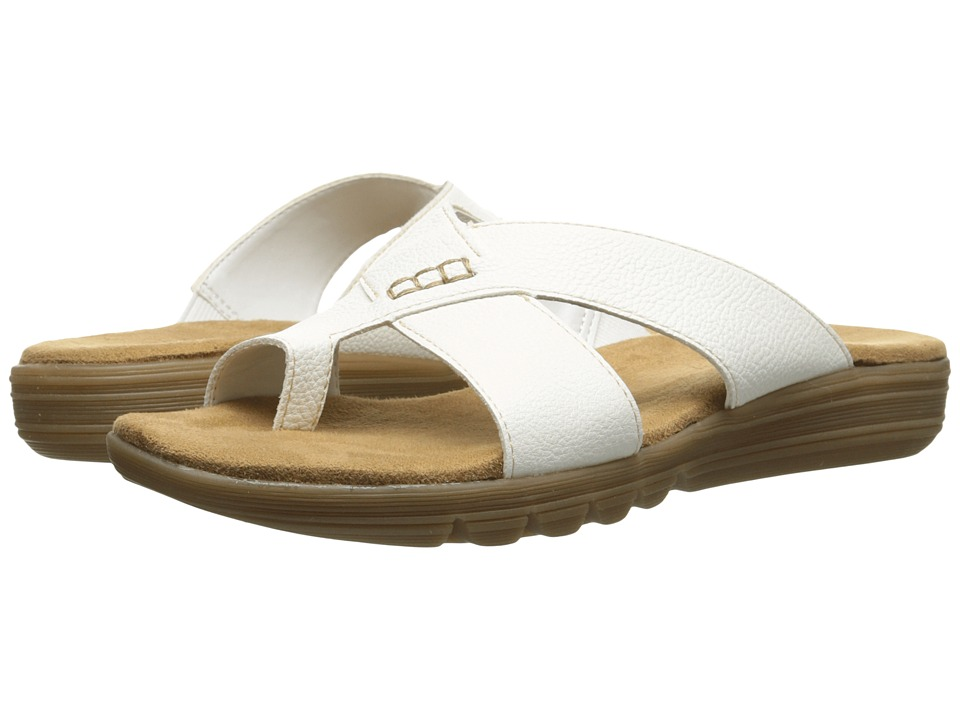 Aerosoles Adjustment White Womens Sandals