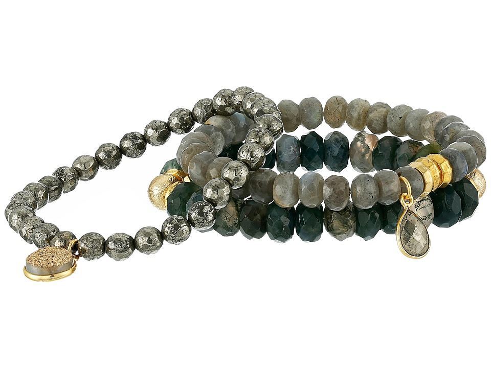 Dee Berkley - Safe Travels Bracelet (Gray/Green) Bracelet
