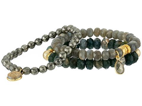 Dee Berkley Safe Travels Bracelet - Gray/Green