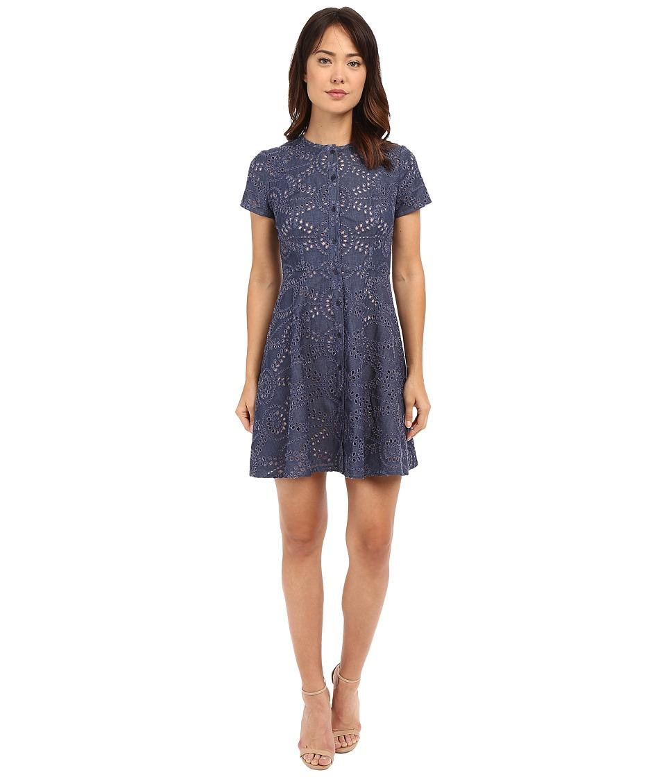 Shoshanna Mika Dress Denim Womens Dress