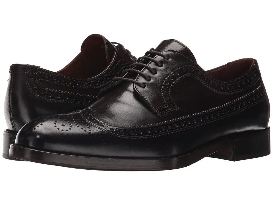 Kenneth Cole New York Org Anized Espresso Mens Lace Up Wing Tip Shoes