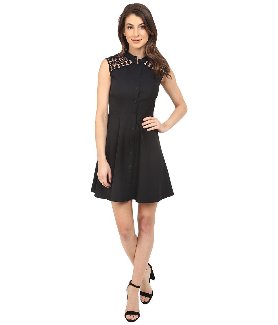 Shoshanna Jenna Dress Jet Womens Dress