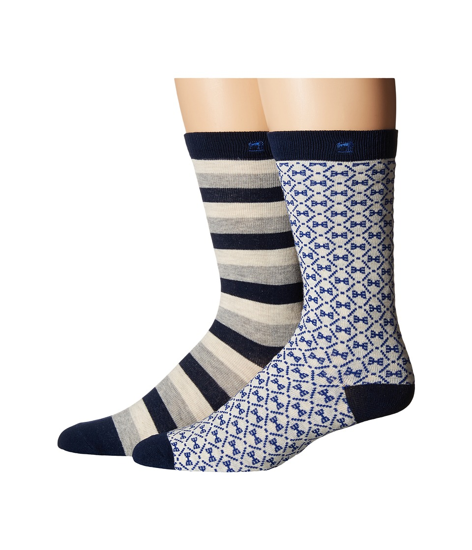 Scotch amp Soda 2 Pack Classic Socks in Colorful Pattern Grey/Navy Mens Crew Cut Socks Shoes