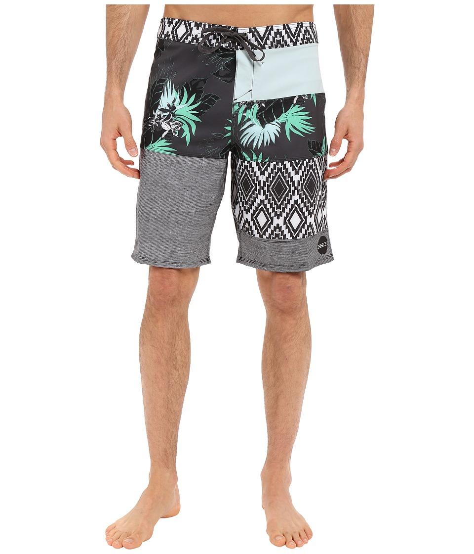 ONeill Hyperfreak Eclectic Boardshorts Cement Mens Swimwear