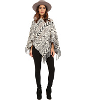 BB Dakota - Campbell Pattern Poncho with Fringe