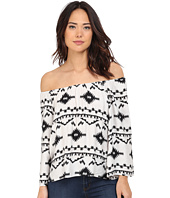 BB Dakota - Marley Symbol Printed Rayon Off The Shoulder Top