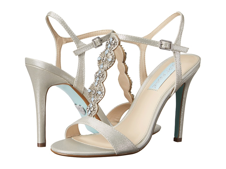 Blue by Betsey Johnson Chloe Silver Fabric High Heels