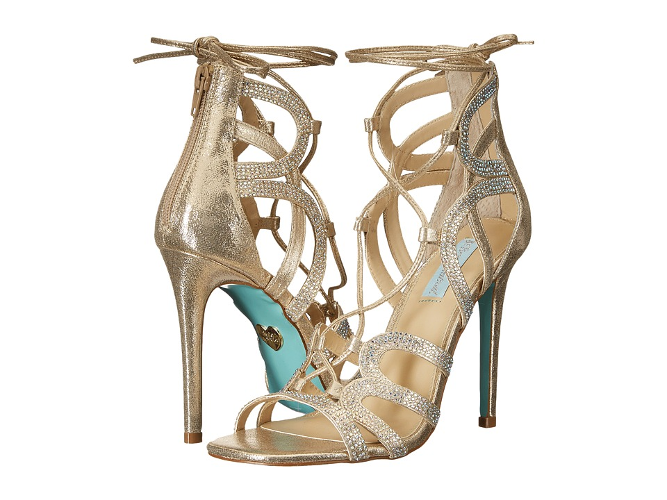 Blue by Betsey Johnson Celia Gold High Heels