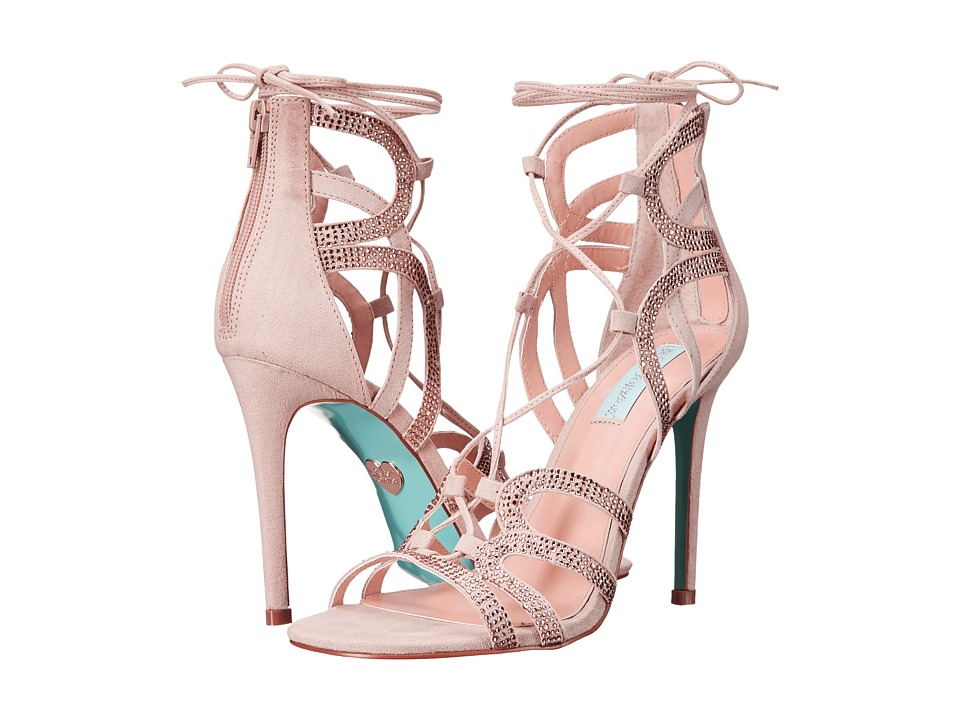 Blue by Betsey Johnson Celia Blush Suede High Heels