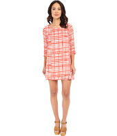 BB Dakota - Corela Abstract Plaid Printed Reverse Crepon