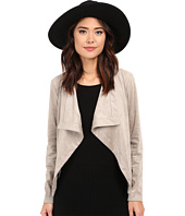 BB Dakota - Katella Faux Suede Drape Front Jacket