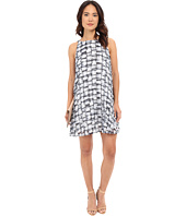 BB Dakota - Leah Plaid Printed Chiffon Pleated Dress