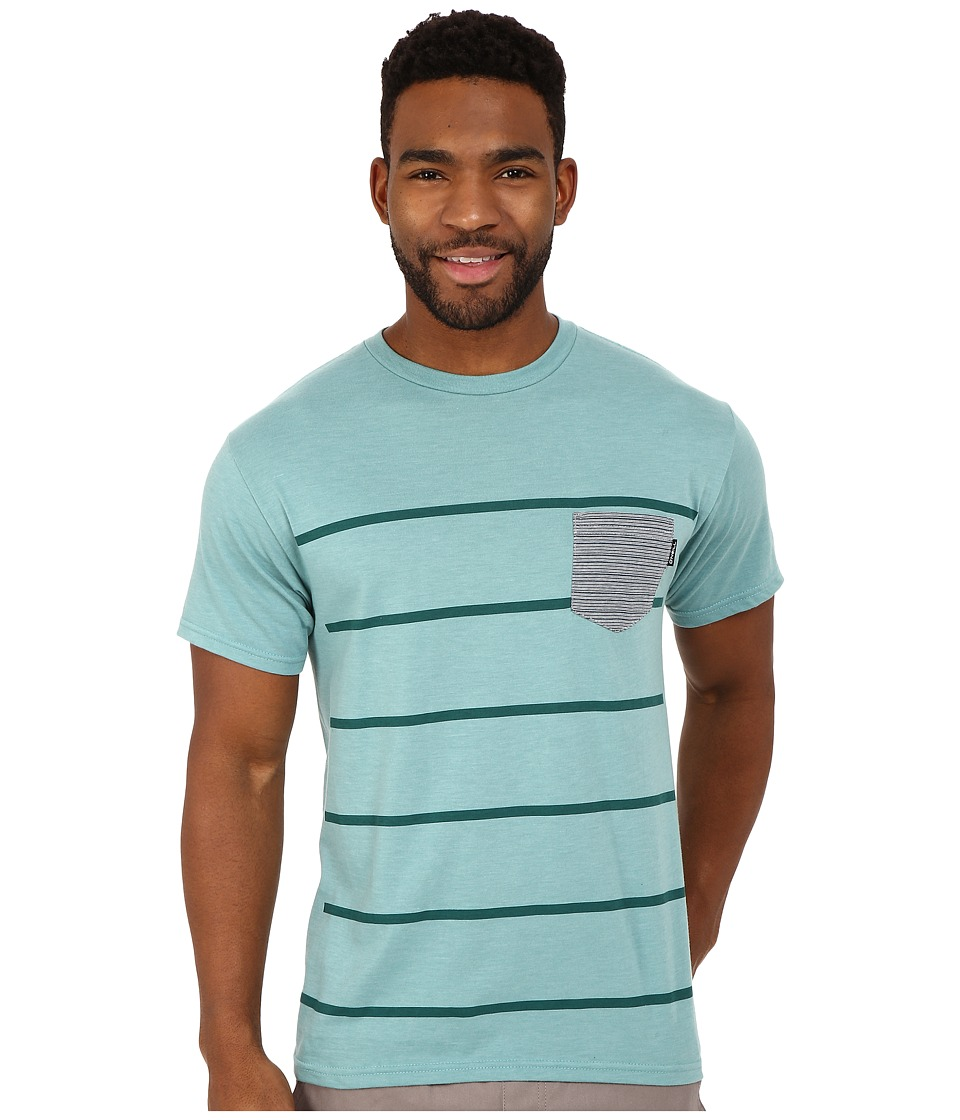 ONeill Vals Short Sleeve Screen Tee Turquoise Heather Mens Short Sleeve Pullover