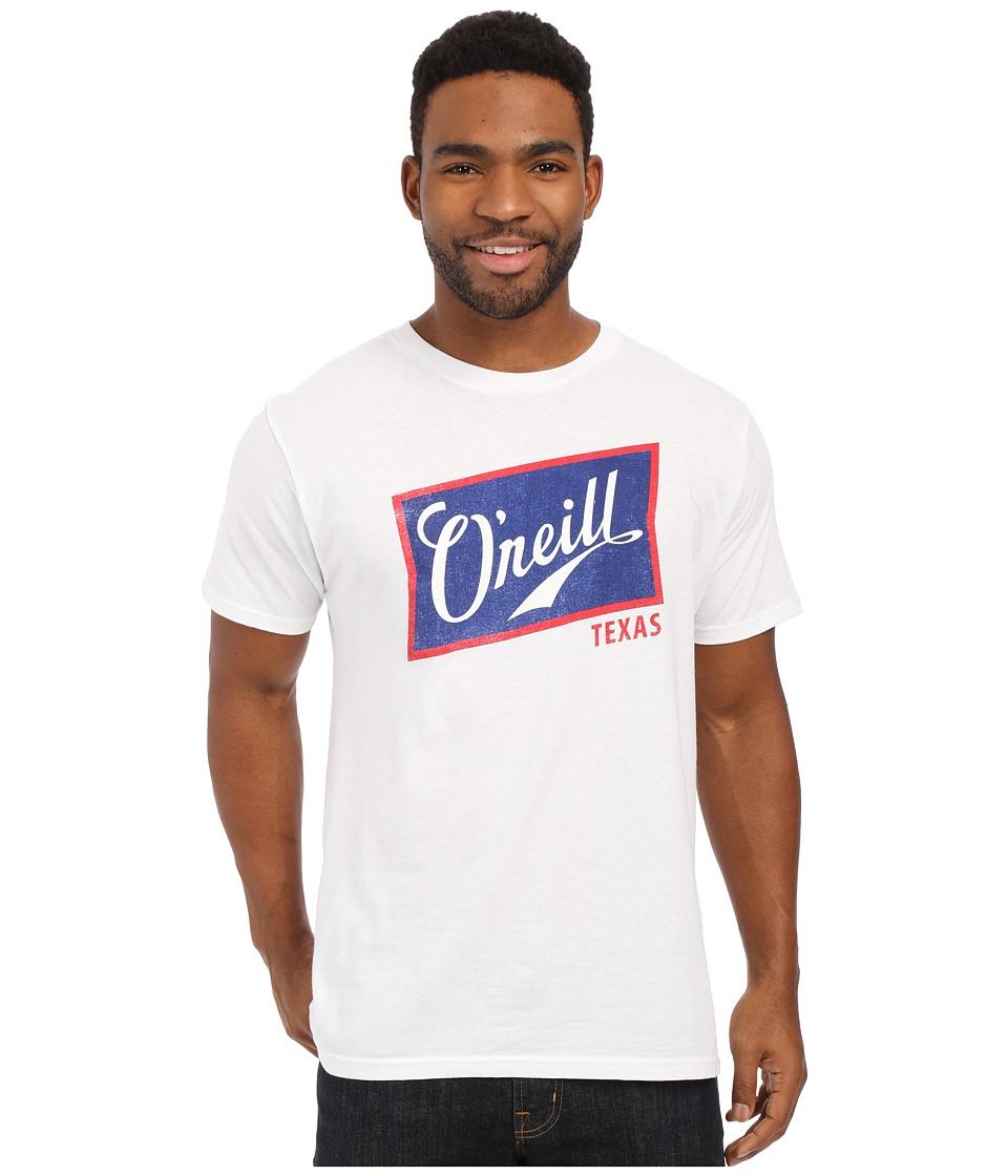 ONeill Foamy Short Sleeve Screen Tee White/Blue Mens T Shirt