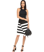 BB Dakota - Portia Striped Ponte Faux Wrap Skirt