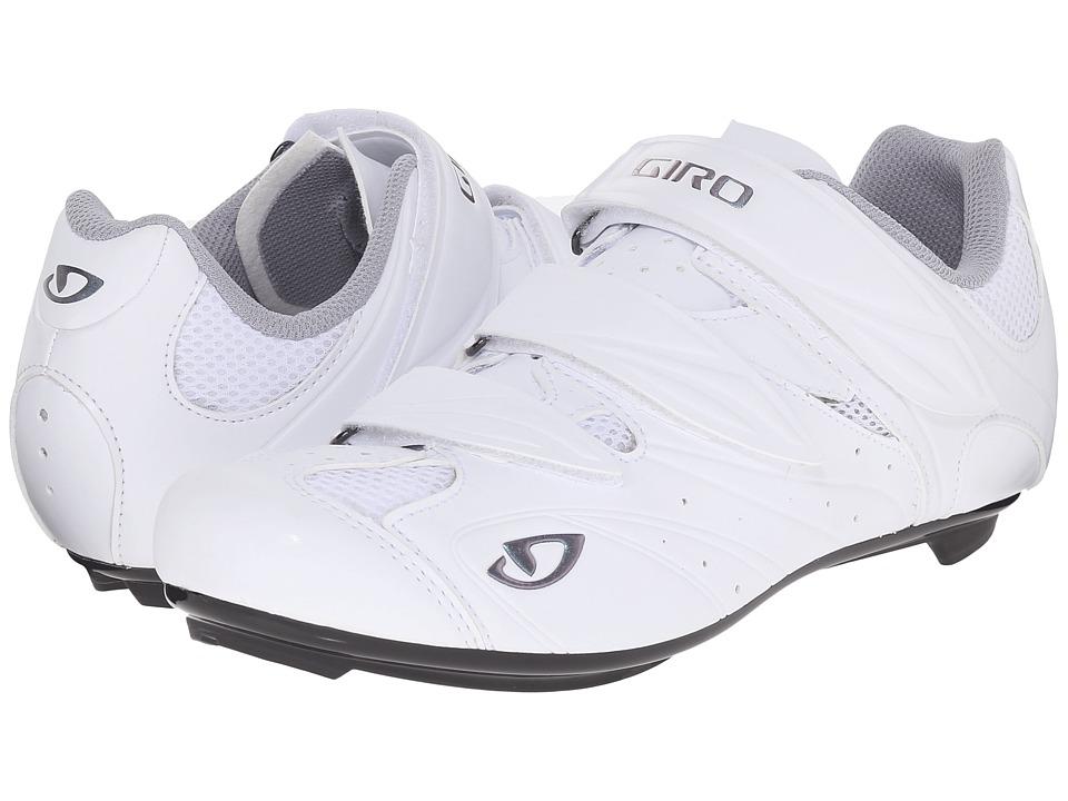 Giro Sante II Matte White/Glow White Womens Cycling Shoes