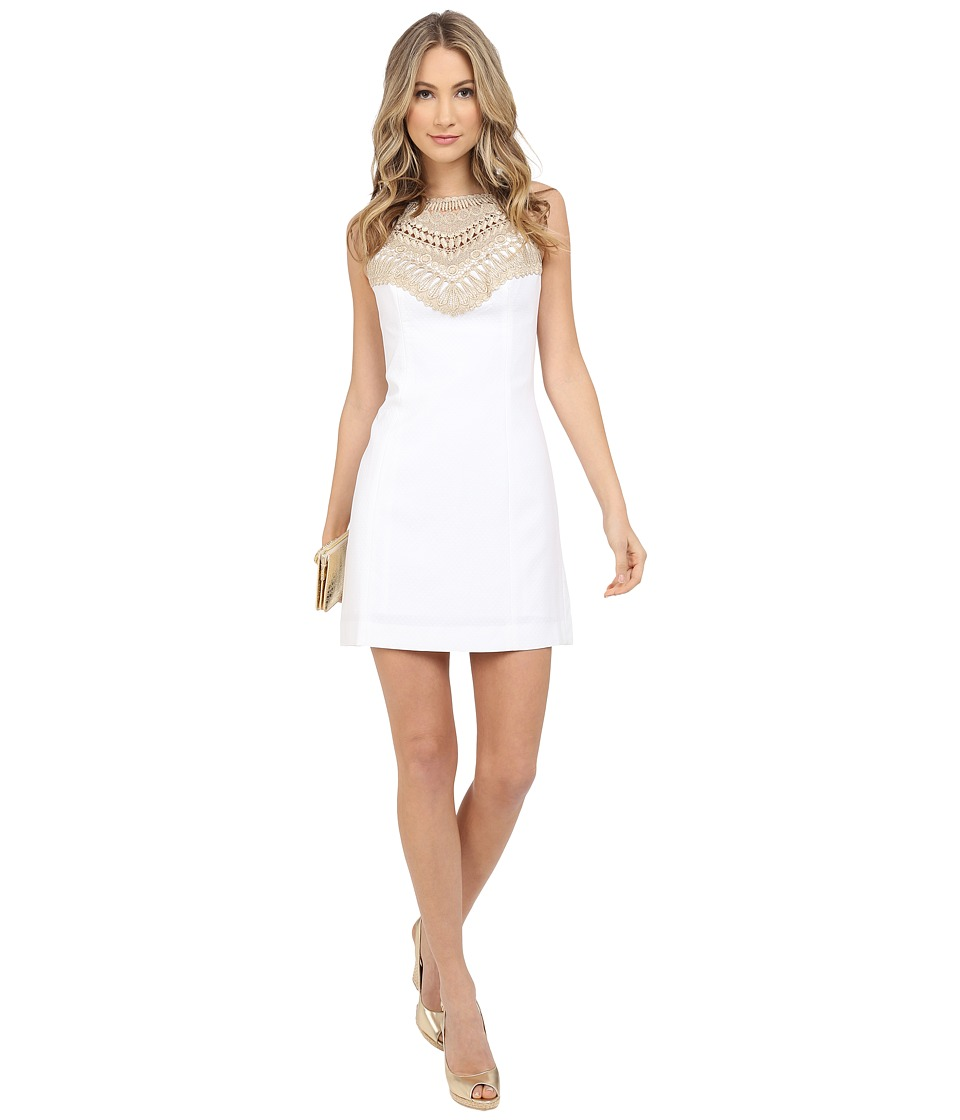 Lilly Pulitzer Pearl Shift Dress Resort White Womens Dress