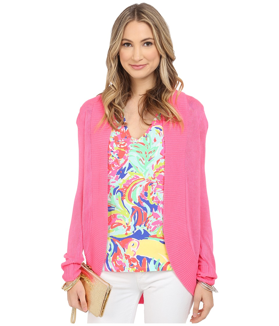 Lilly Pulitzer Amalie Cardigan Flamingo Pink Womens Sweater