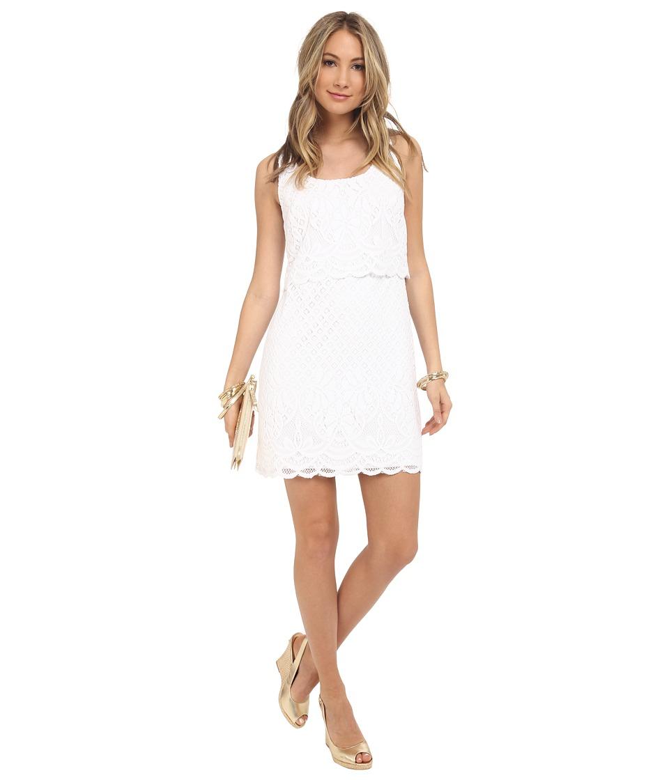 Lilly Pulitzer Stelle Dress Resort White Paradise Island Womens Dress
