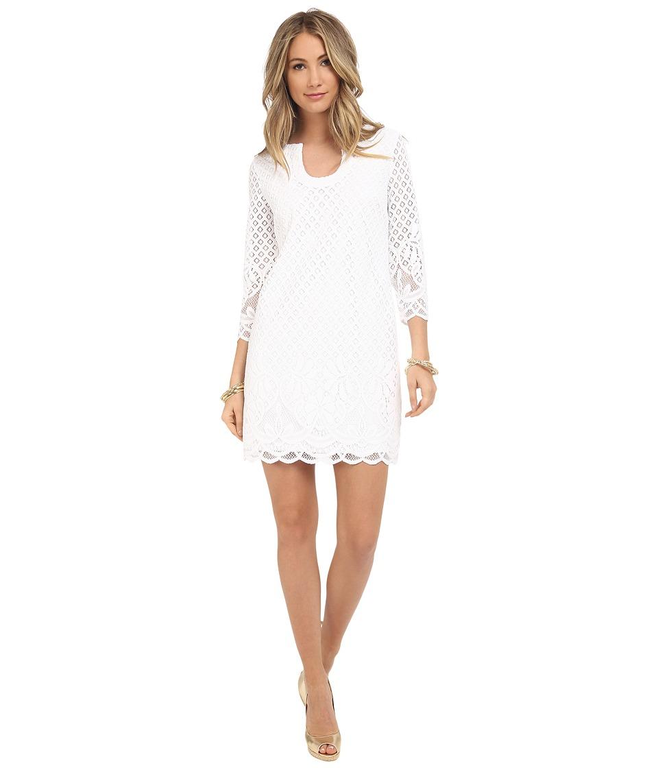 Lilly Pulitzer Mara Dress Resort White Paradise Island Womens Dress