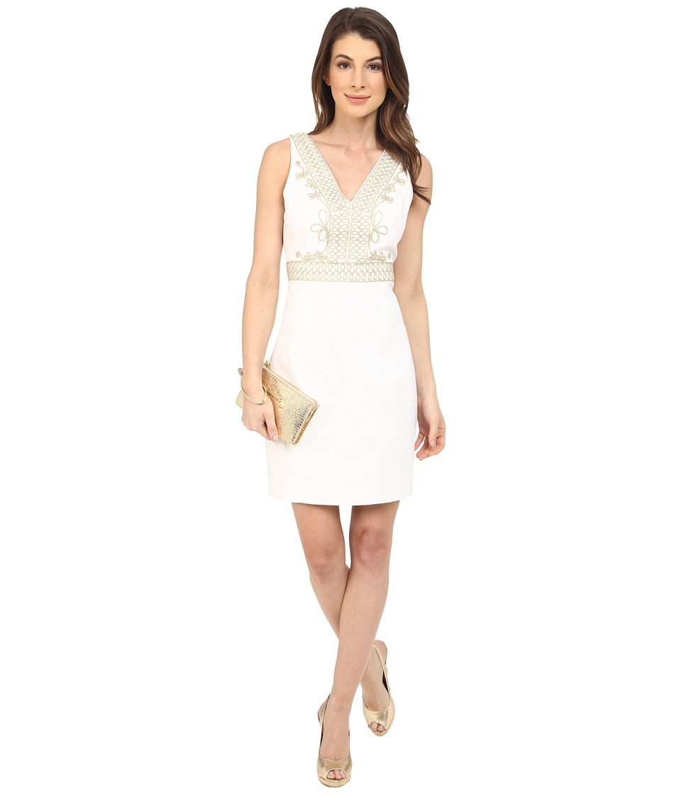 Lilly Pulitzer Aveline Shift Dress Resort White Womens Dress