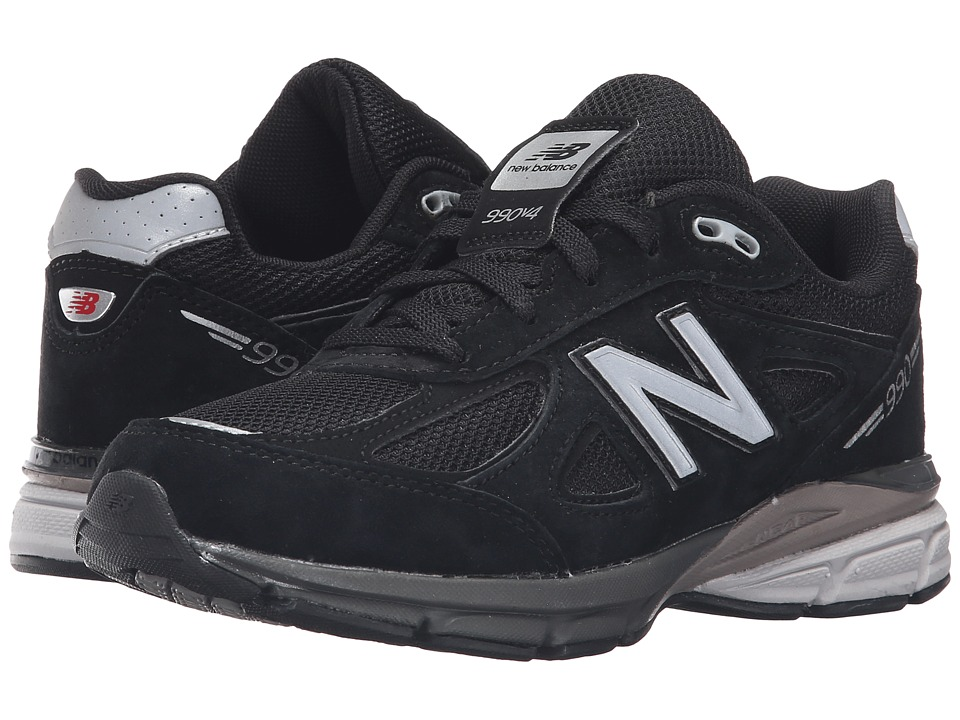 New Balance Kids 990v4 (Big Kid) (Black/Black) Boys Shoes