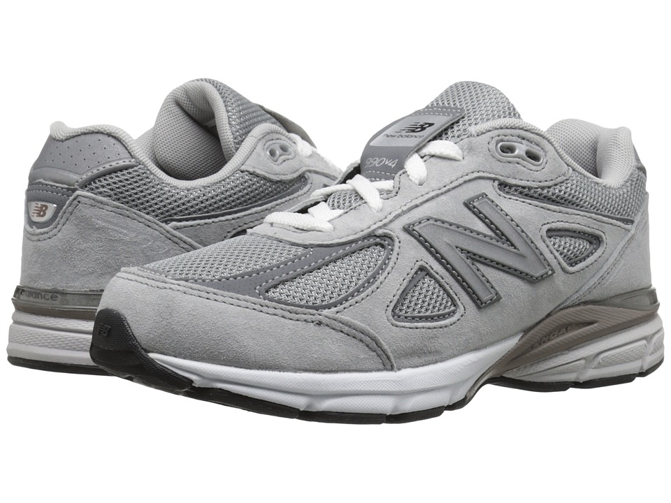 New Balance Kids 990v4 (Big Kid) (Grey/Grey) Boys Shoes