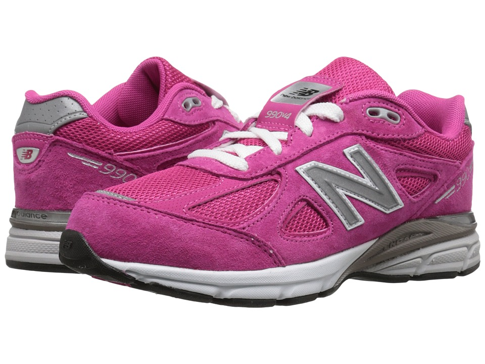 New Balance Kids 990v4 (Big Kid) (Pink/Pink) Girls Shoes